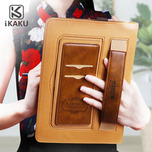 KAKU 2018 Factory price durable flip 360 degree universal belt clip 7 inch tablet case for ipad