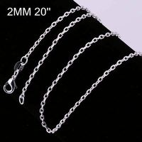 New simple design factory price 925 silver chain silver chain necklace patterns CC012-20