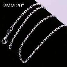 New simple design factory price 925 silver chain necklace patterns CC012-20