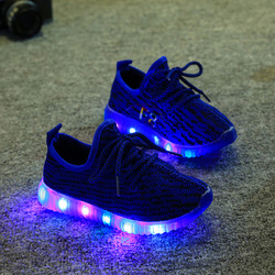 Wholesale led kids shoes causal outdoor girls baby boy sports shoes