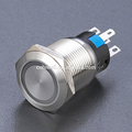 Ring illuminated 19mm stainless steel LED metal push button switch