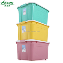 52L colorful PP plastic clothes blanket tidy home storage box bedroom organizer container