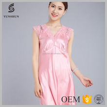 Elegant women printed sleepwear women sexy nude nightwear