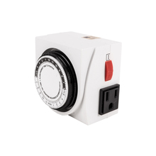 TRILITE 24H Dual Outlet Mechanical Minute Timer