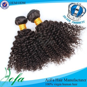 Aliexpress top seliing extension virgin brazilian kinky curly braiding hair