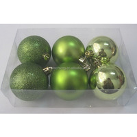 Apple green Shiny/Matte/glitter personalized christmas ball ornaments