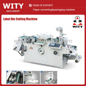Adhesive Label Die cutting Machine(punching, hot-stamping ,laminating function)