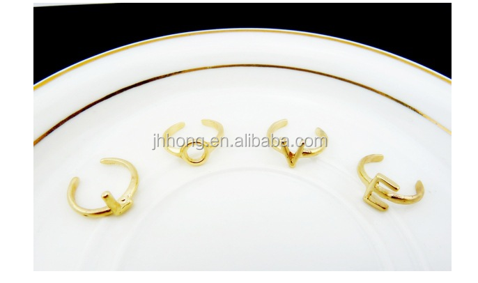 New arrived fashion jewelry gold finger ring set midi ring set