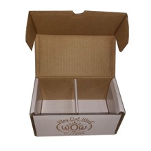 Folding luxury white cookie decorative paper packaging box