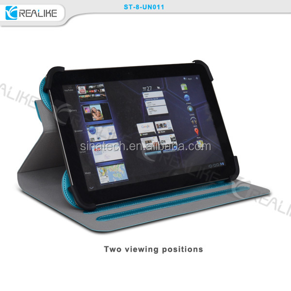 universal stand case for samsung galaxy tab 3v,rotate universal tablet case for 7/8inch