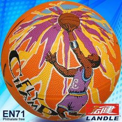 Rubber made new style colorful official size butyl basketball made in china