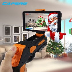 Hot Sale Wireless Controller Connect Mobile Phone Plastic Electric Shooting Cowboy Toy Gun Vr Ar Game Gun Set Holder With Sound