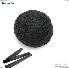 Wholesale Bamboo Charcoal Sponge/Wuhan BeBeVisa Most Popular Half-ball Konjac Sponge 2017