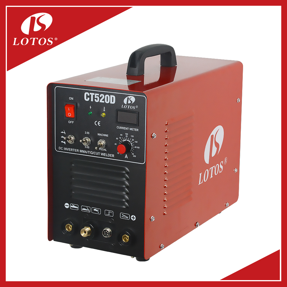 Lotos CT520D MMA TIG CUT 3 in 1 2017 Most Popular ARC Welding Machine With Good After-Sale Service
