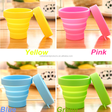 High Quality Silicone Foldable Coffee Cup, Portable Silicone Folding Cup for Travel