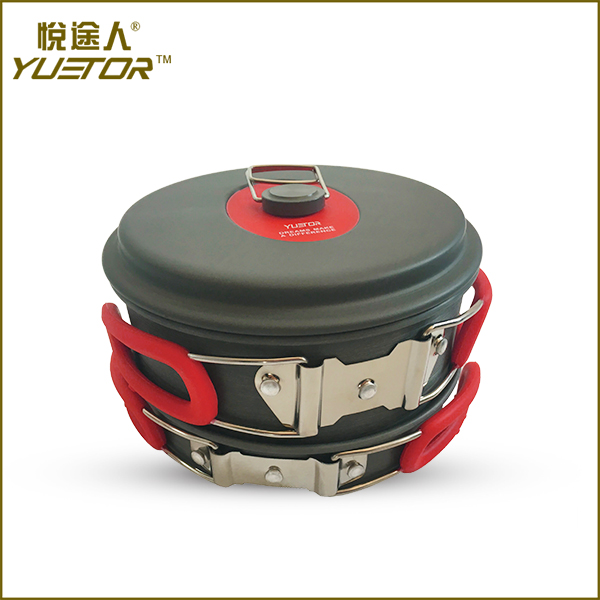 Factory Supply steel stove porcelain camping cookware made in china