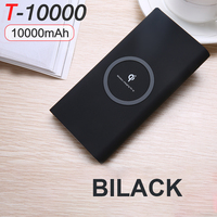 Hot selling rohs ce qi wireless charger smart universal 10000mah rohs power bank
