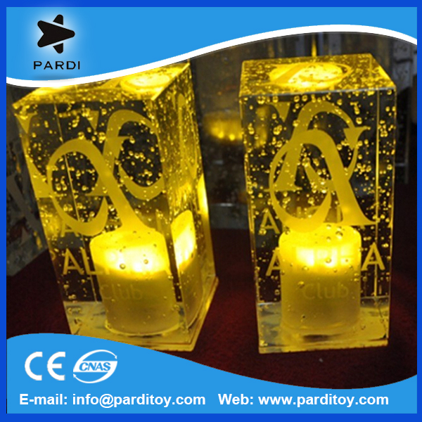 Crystal bubble LED rechargeable bar promotional table lamp