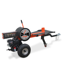 Gasoline engine forestry use 34 T mechanical wood log cutter and splitter with 6.5 hp