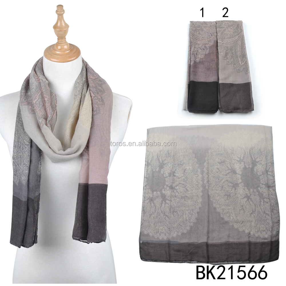 yiwu Stock wholesale Vintage black lace embroidered polycotton scarf