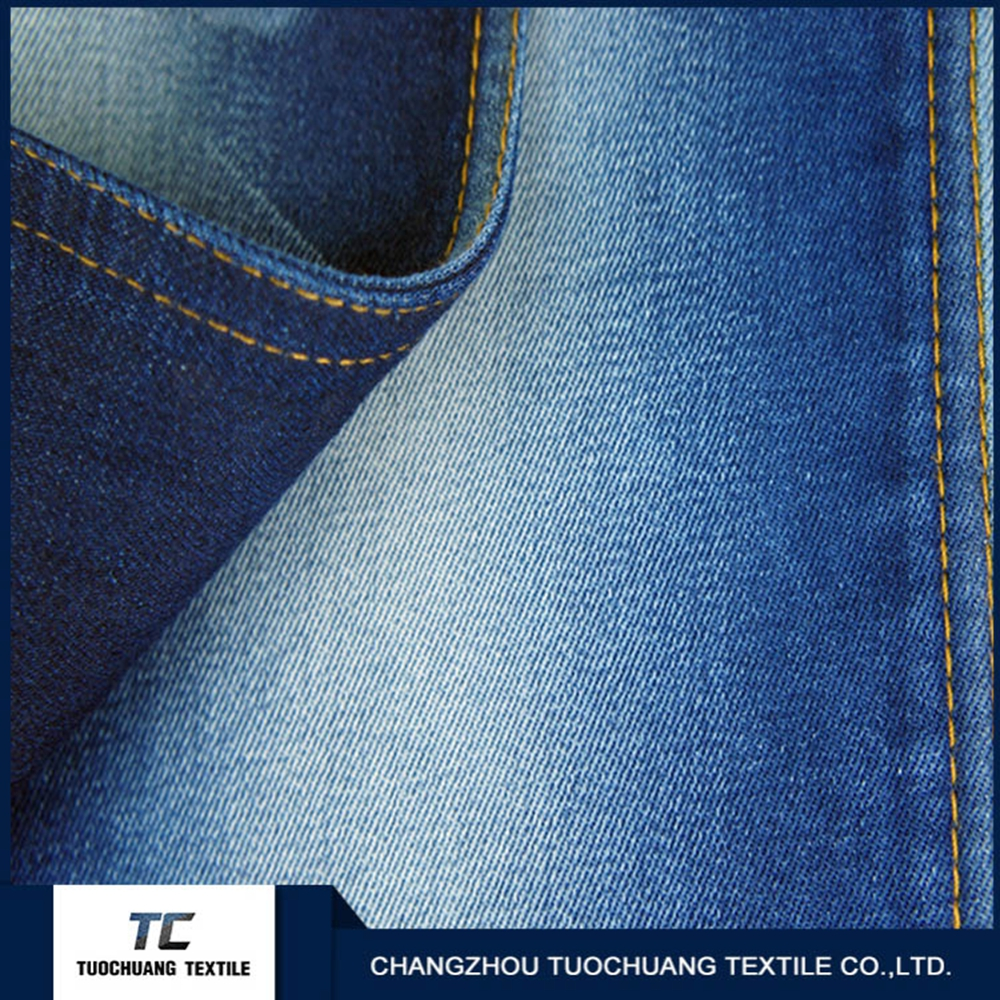 Low price of POPULAR 13OZ colorful woven 100% cotton denim fabric with good price