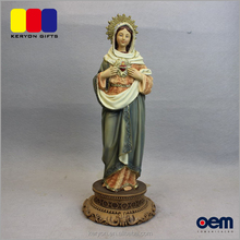 Home Furnishings Decor Resin Religious Figurines Virgin Mary Decoration