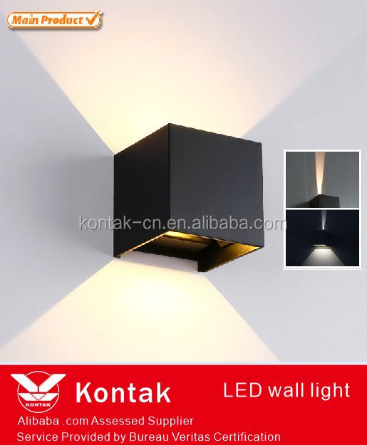 Amazon hotselling die-casting body square design outside wall lights with up or down lighting