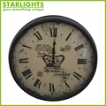 Vintage decorative clock antique Metal wall clock for wedding decoration