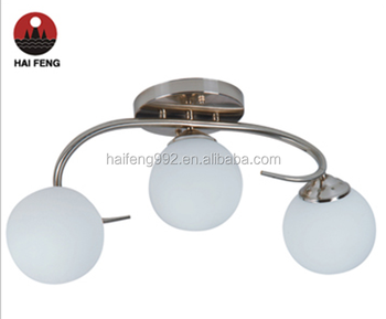 simple glass pendant light/comtemporary family chandelier light E27