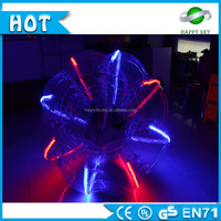 Customized TPU or PVc LED bumper ball soccer, LED bumper balls for adults, where can i buy bubble soccer