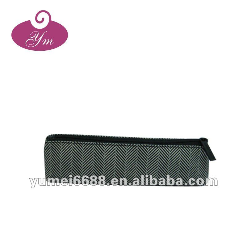 black color cosmetic bag and pencil bag