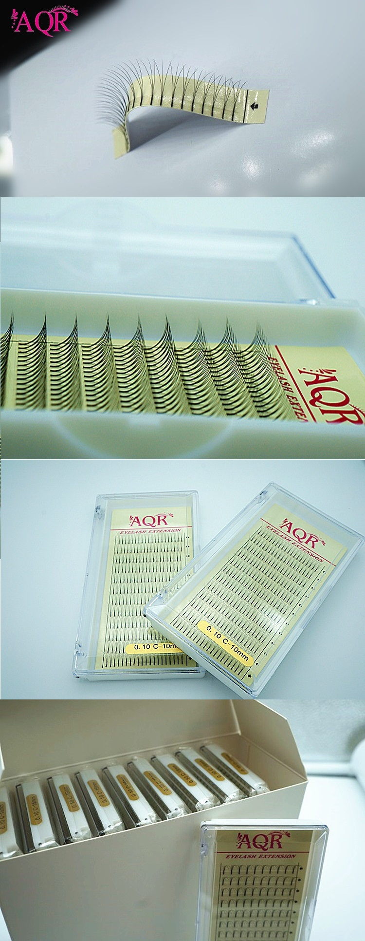 factory price plastic tray 0.10mm C Dcurl W 2D3D4D5D russian volume eye lash