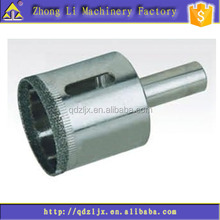 Diamond core drill bit for glass, Glass hole saw