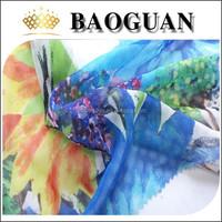 100%Poly printing fabric fashion flower printing