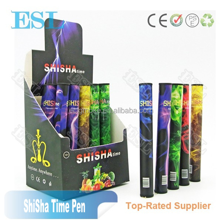 Wholesale ShiSha Time E Hookah 500 Puffs Pipe Pen Electronic Cigarette Smoking Sticks Shisha Water Hookah disposable Shisha pen