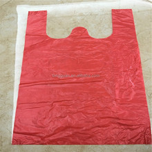 high quality large shopping carrier colored plastic t-shirt bag