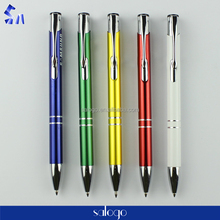 souvenir custom logo branded heavy metal pen