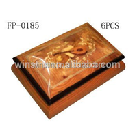 2016 Winstin Burl Wood Veneer Handmand Inlaid Music box