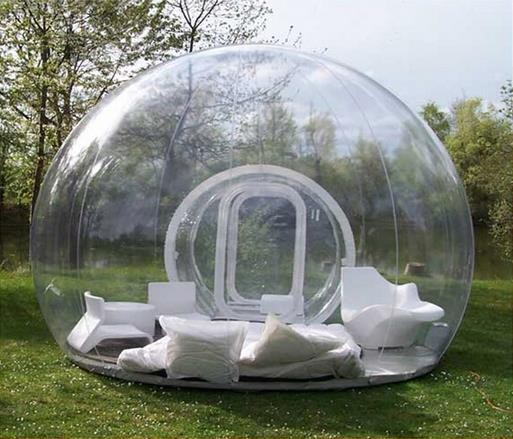3.0m diameter bubble outdoor lawn camping transparent inflatable dome tent with electric blower