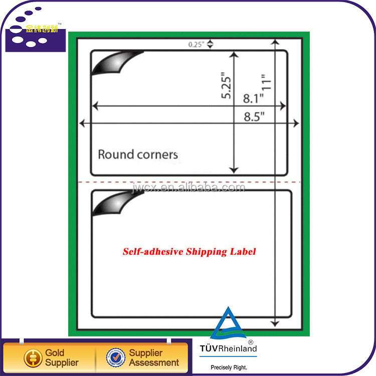 half-sheet Self Adhesive Glossy Labels Paper A4 shipping