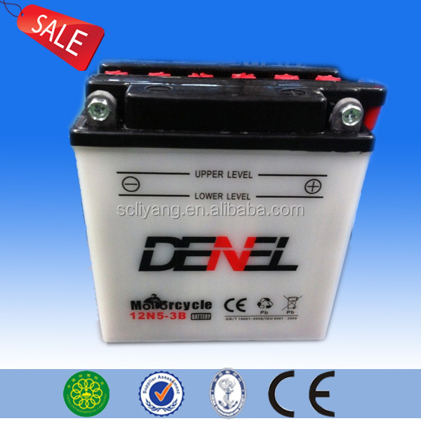 12N5-3B good quality lead acid battery 12v 5ah for motorcycle manufacturer 12 v5ah