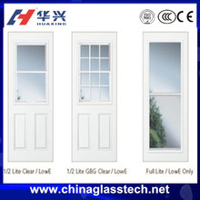 Sound and Heat insulation single tempered glass aluminum alloy frame venting door insert