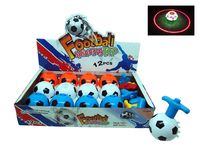 Football spinning plastic spinning top toy with light & music