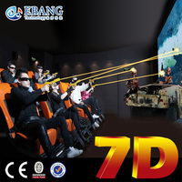 Gun shooting 7d sinema simulator 7d cinema container house 7d cinema with cabin