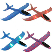 Wholesale High Quality EPP Hand Throwing Flying LED Airplane Model Toys For Kid's