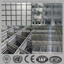 Galvanized welded wire mesh fence panels in 6 gauge