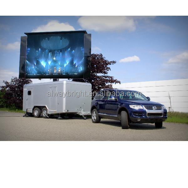 P10mm truck led screen / P10 true color led mobile display/ P8 stage led video display