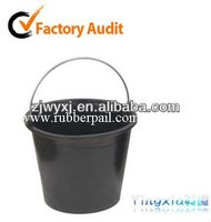 recycled rubber bucket for construction,flexible rubber pail,Korean barrel