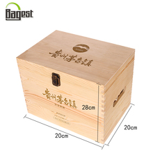 Custom Printed Recyclable Carrier Natural Color Six Bottle Wood Wine Box