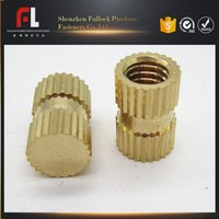Brass Copper Knurled Blind Threaded Insert
